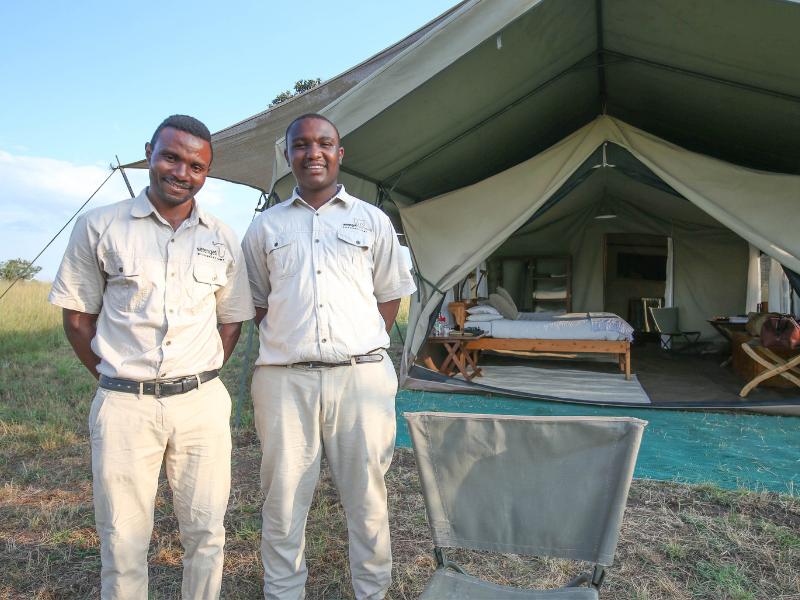 Ndutu Wilderness Camp Staff and Tent