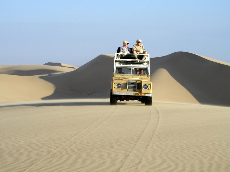 Vehicle on Dune Namibia