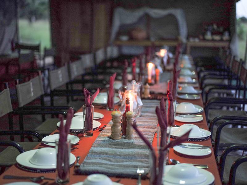 Serengeti Wilderness Camp Dining