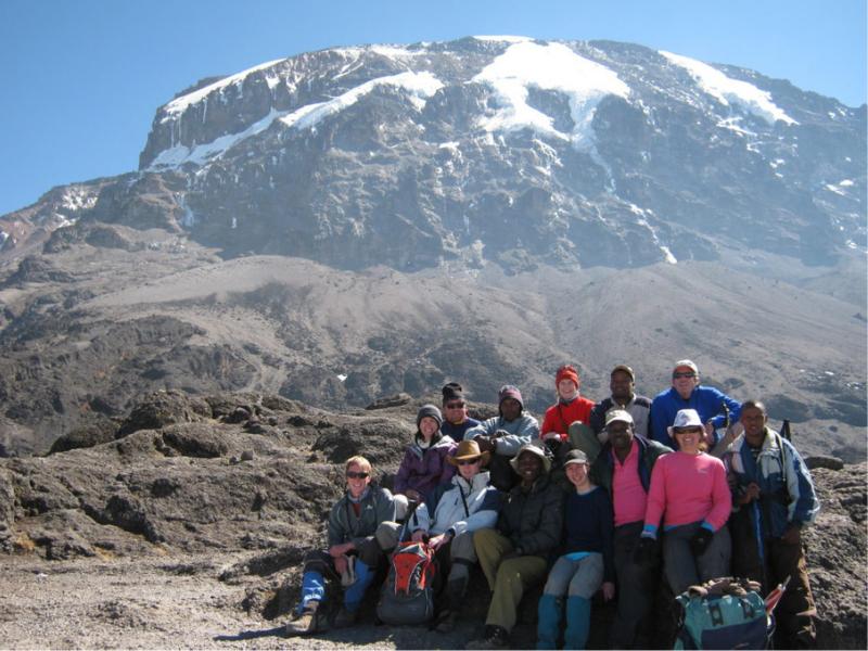 Kilimanjaro Group with summit behind